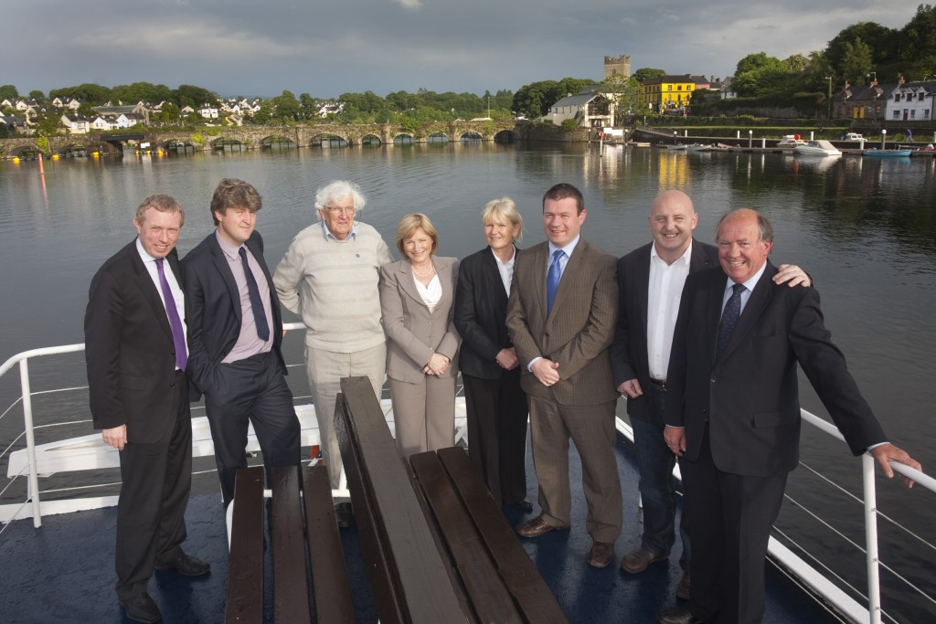 Pictured at the launch of Féile Brian Ború 2012 are: l - r: Michael McNamara T.D., Timmy Dooley T.D., Bryan Brislane, Celia Larkin, Cllr. Phyll Bugler, Minister Alan Kelly, Keith Wood (Patron of Féile Brian Ború) and John Grimes (Chairperson).