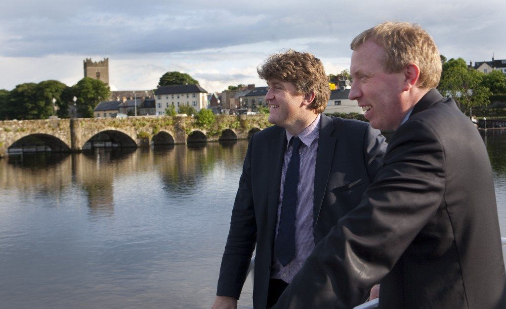  Pictured at the launch of File Brian Bor 2012 are: l - r: Michael McNamara T.D. and Timmy Dooley T.D. 